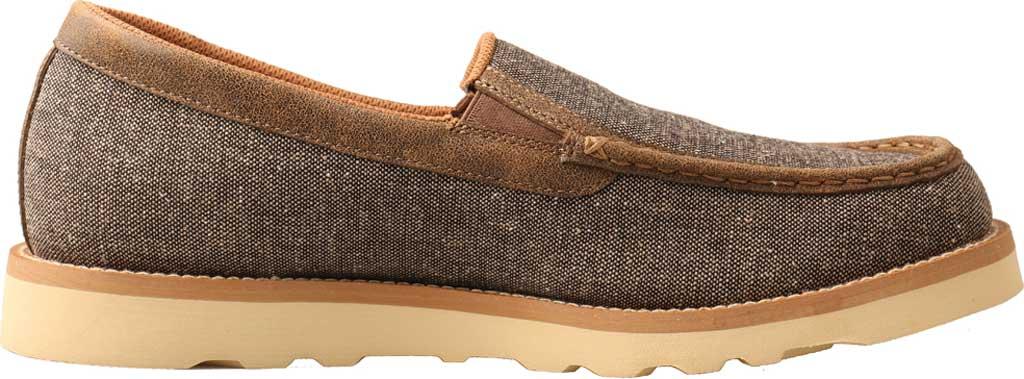 Men's Twisted X MCA0035 Moc Toe Slip On, Dust Eco Tweed/Full Grain Leather, large, image 2