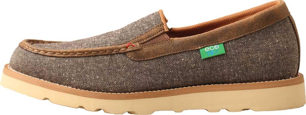 Men's Twisted X MCA0035 Moc Toe Slip On, Dust Eco Tweed/Full Grain Leather, large, image 3