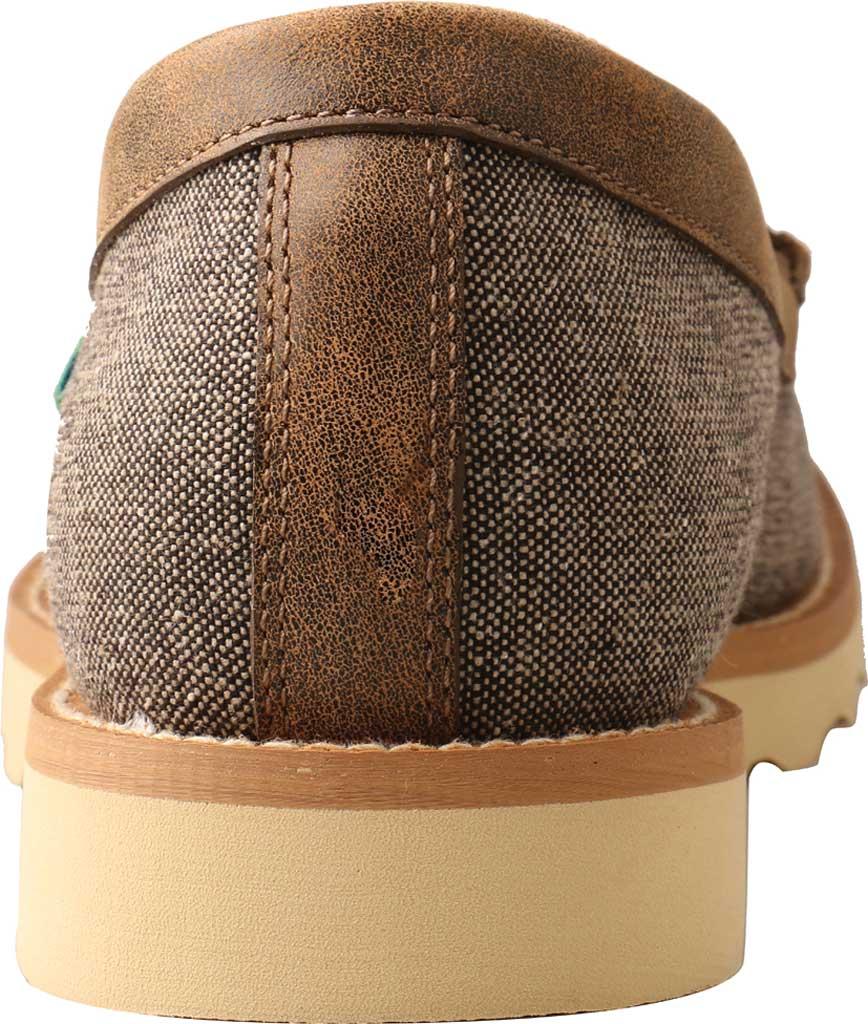 Men's Twisted X MCA0035 Moc Toe Slip On, Dust Eco Tweed/Full Grain Leather, large, image 4