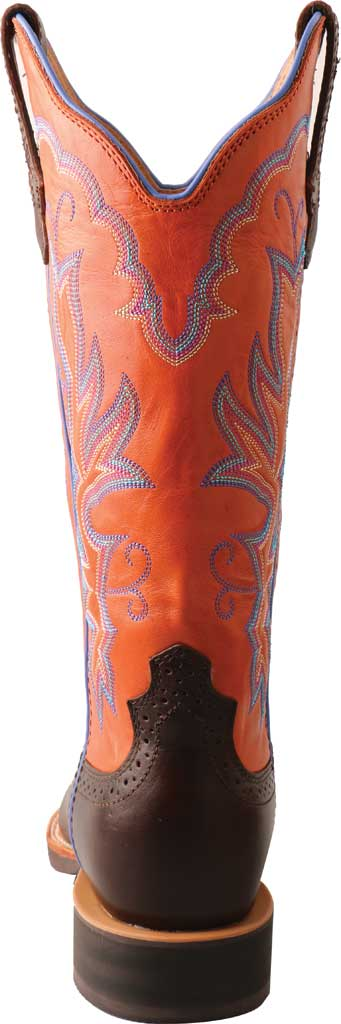 """Women's Twisted X WRS0033 13"""" Ruff Stock Cowgirl Boot, Dark Chocolate/Carrot Full Grain Leather, large, image 2"""
