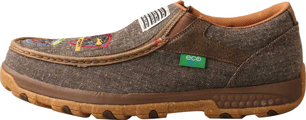 Men's Twisted X MXC0010 Slip On Driving Moc, Dust Eco Tweed/Full Grain Leather, large, image 3
