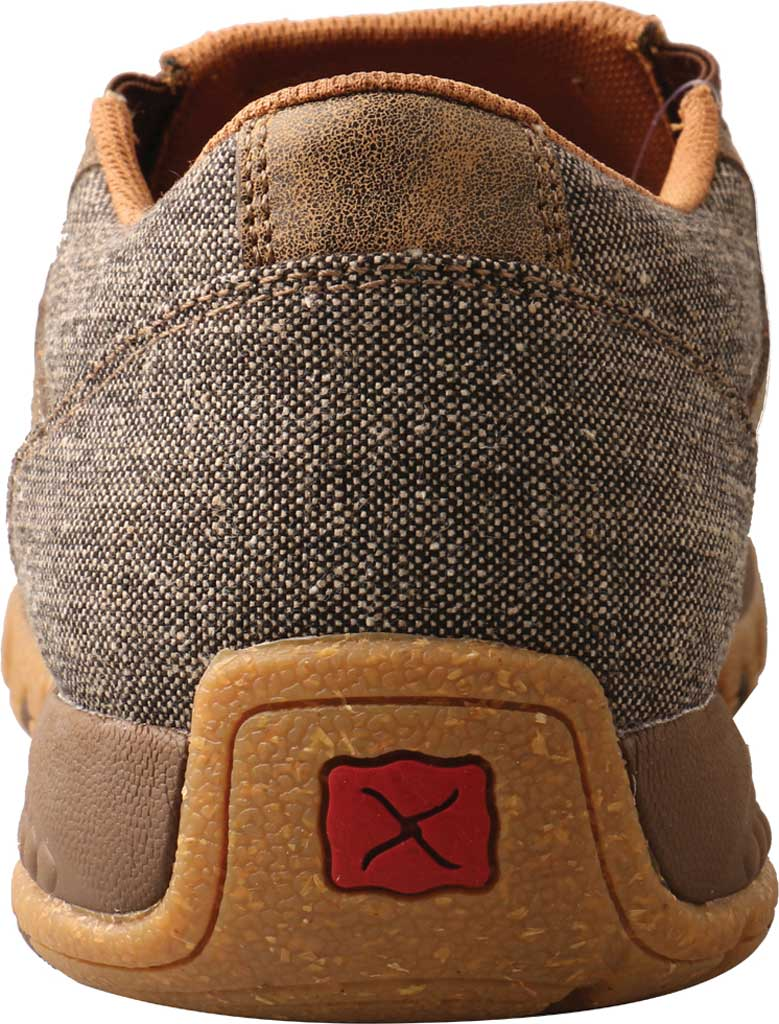 Men's Twisted X MXC0010 Slip On Driving Moc, Dust Eco Tweed/Full Grain Leather, large, image 4
