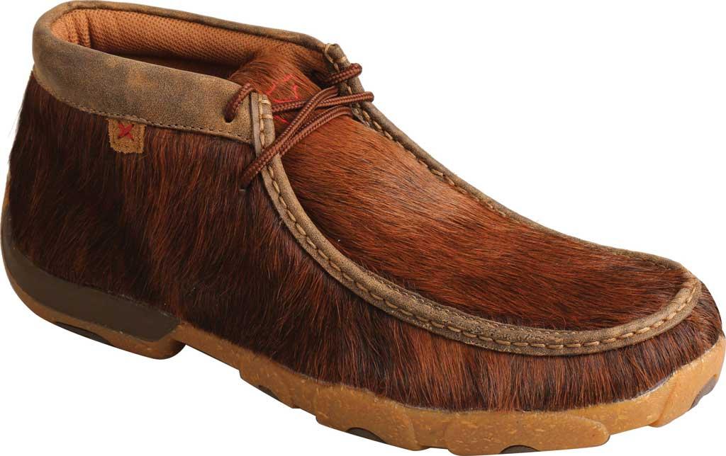 Men's Twisted X MDM0084 Chukka Driving Moc, Brindle Full Grain Leather, large, image 1