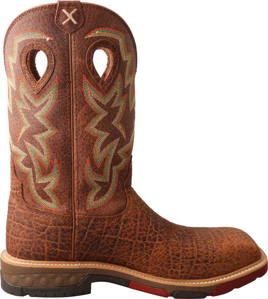 "Men's Twisted X MXB0004 12"" Western Work Boot, Tan/Tan Full Grain Leather, large, image 2"