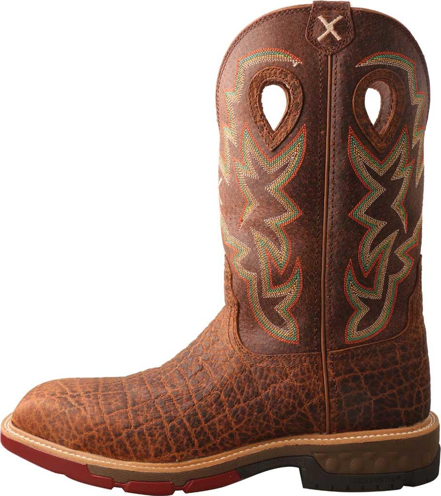 "Men's Twisted X MXB0004 12"" Western Work Boot, Tan/Tan Full Grain Leather, large, image 3"