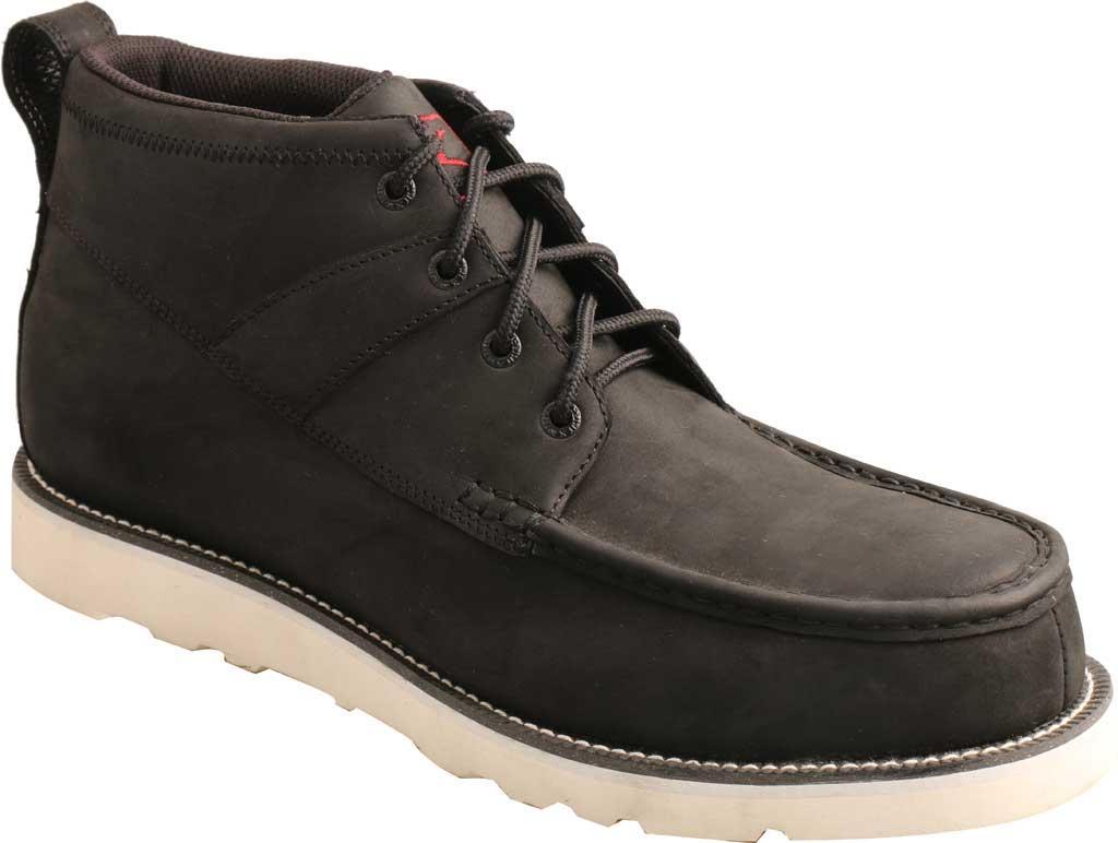 "Men's Twisted X MCAA002 4.5"" Alloy Toe Work Boot, Black/Black Full Grain Leather, large, image 1"