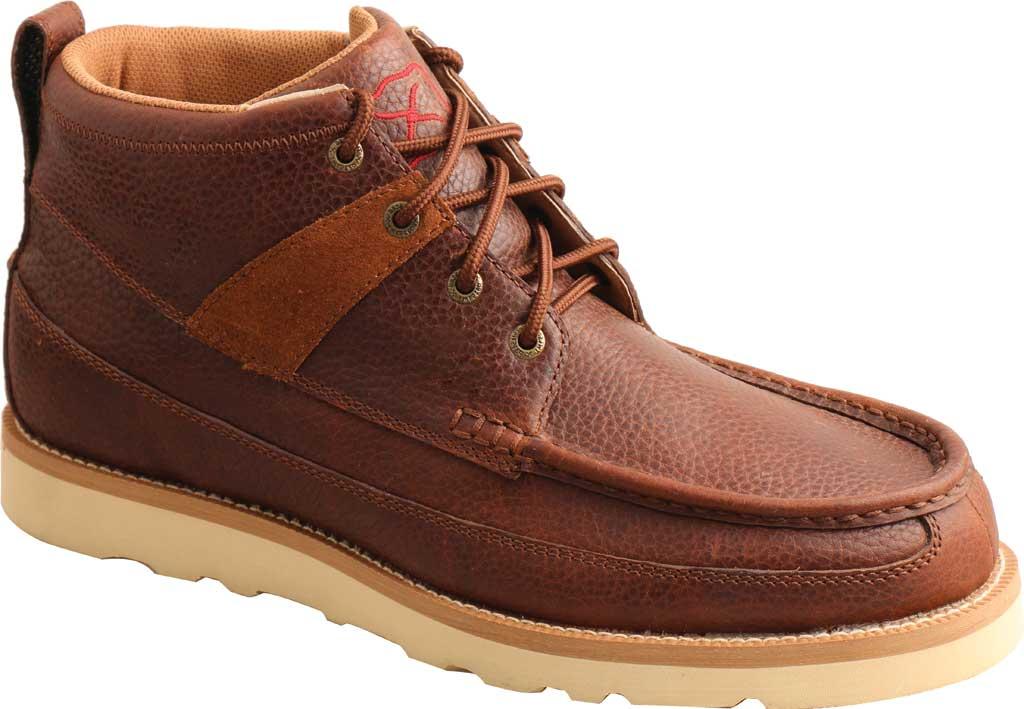 "Men's Twisted X MCAA001 4"" Alloy Toe Work Boot, Cinnamon/Cinnamon Full Grain Leather, large, image 1"