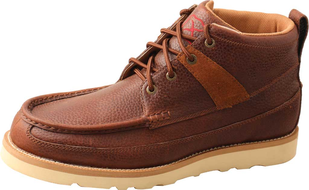 "Men's Twisted X MCAA001 4"" Alloy Toe Work Boot, Cinnamon/Cinnamon Full Grain Leather, large, image 2"