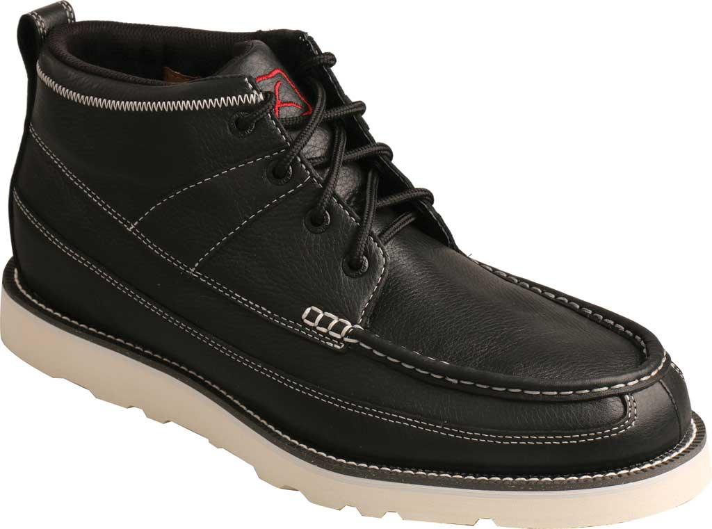 "Men's Twisted X MCA0039 4"" Moc Toe Boot, Black Full Grain Leather, large, image 1"