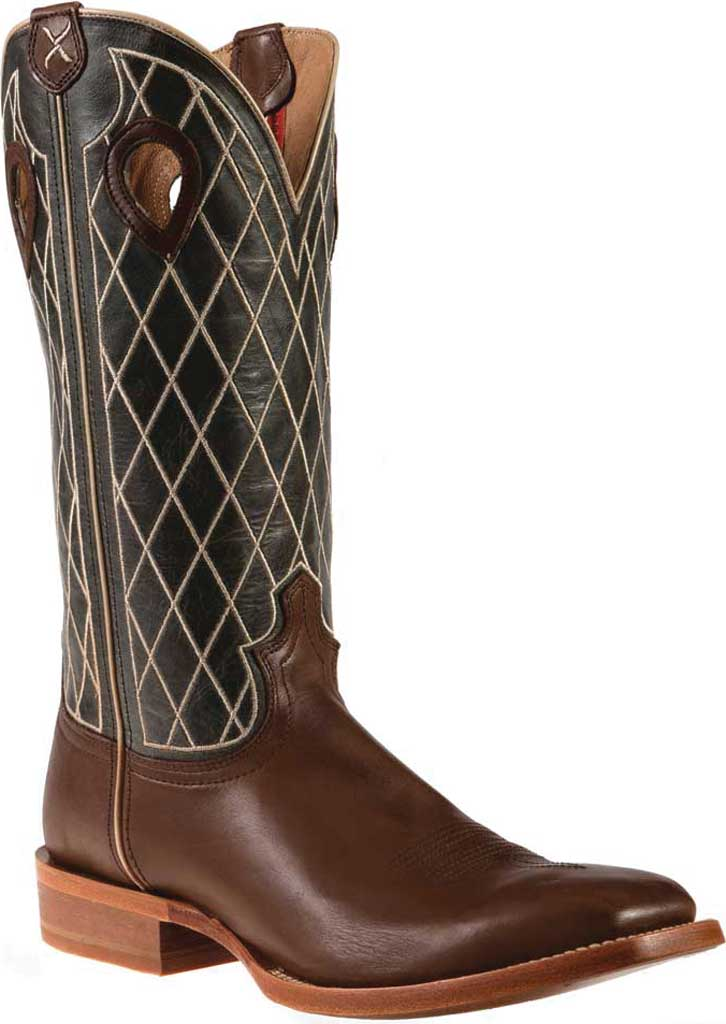 """Men's Twisted X MRSL044 14"""" Ruff Stock Cowboy Boot, Toffee/Charcoal Full Grain Leather, large, image 1"""