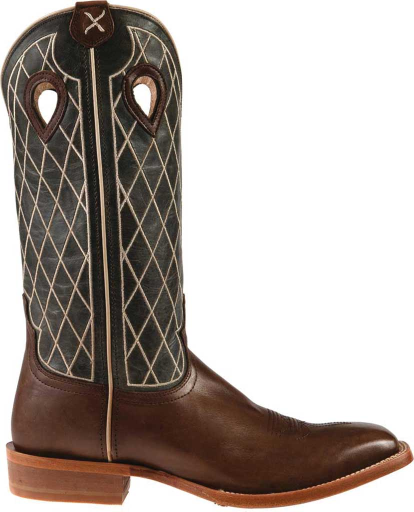 """Men's Twisted X MRSL044 14"""" Ruff Stock Cowboy Boot, Toffee/Charcoal Full Grain Leather, large, image 2"""