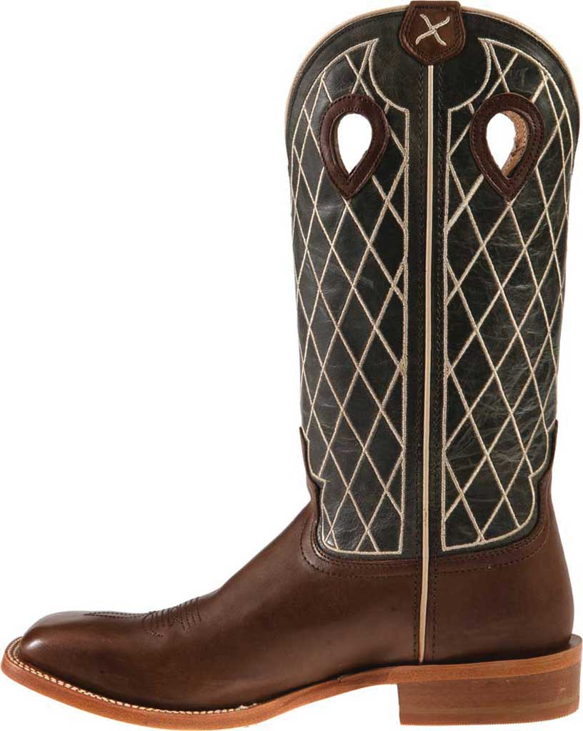 """Men's Twisted X MRSL044 14"""" Ruff Stock Cowboy Boot, Toffee/Charcoal Full Grain Leather, large, image 3"""
