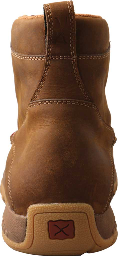 "Men's Twisted X MXC0011 6"" Moc Toe Boot, Distressed Saddle Full Grain Leather, large, image 4"
