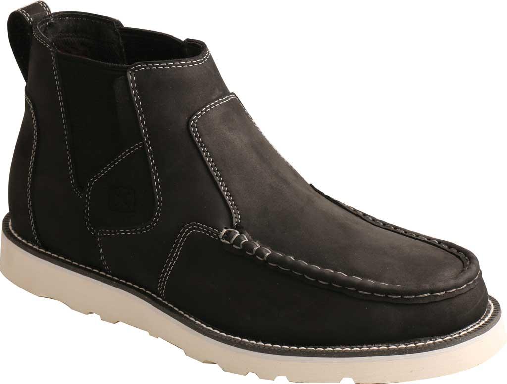 "Men's Twisted X MCA0040 4"" Moc Toe Chelsea Boot, Black Full Grain Leather, large, image 1"