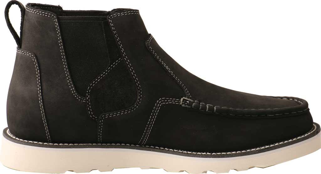 "Men's Twisted X MCA0040 4"" Moc Toe Chelsea Boot, Black Full Grain Leather, large, image 2"