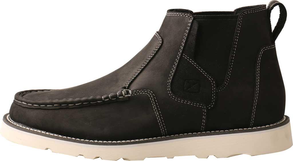 "Men's Twisted X MCA0040 4"" Moc Toe Chelsea Boot, Black Full Grain Leather, large, image 3"
