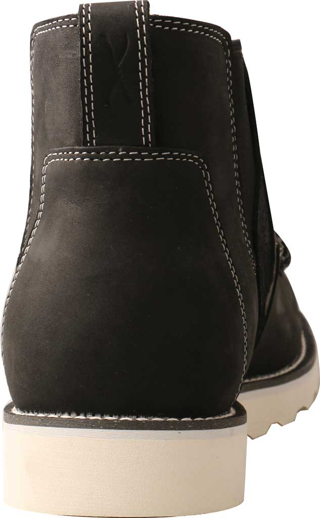 "Men's Twisted X MCA0040 4"" Moc Toe Chelsea Boot, Black Full Grain Leather, large, image 4"
