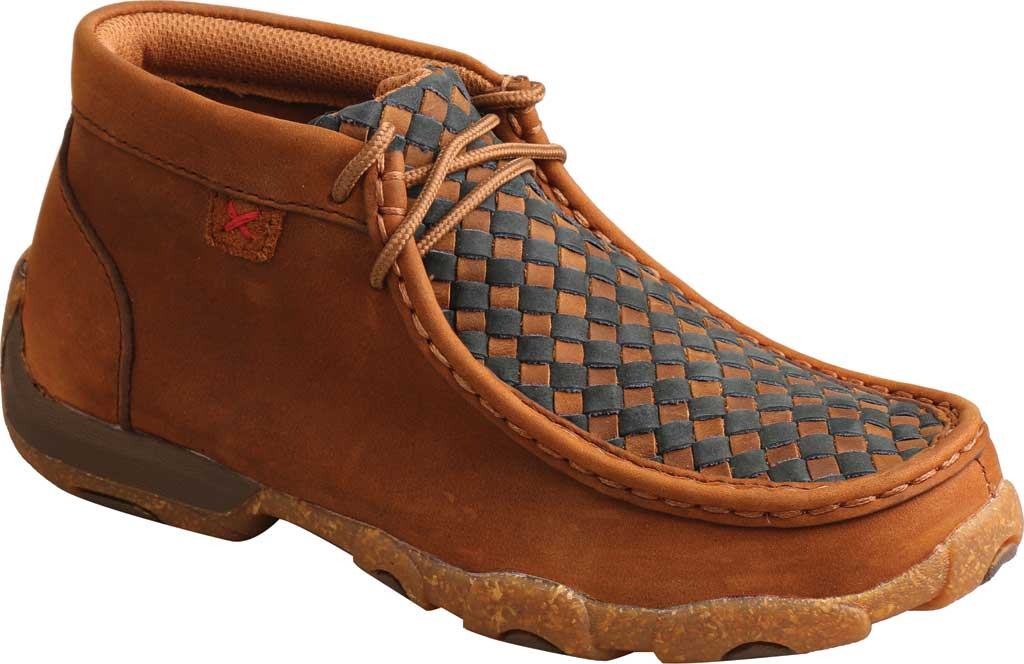 Children's Twisted X YDM0046 Chukka Driving Moc, Oiled Saddle/Midnight Full Grain Leather, large, image 1