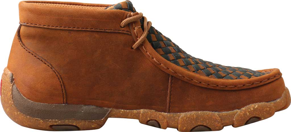 Children's Twisted X YDM0046 Chukka Driving Moc, Oiled Saddle/Midnight Full Grain Leather, large, image 2