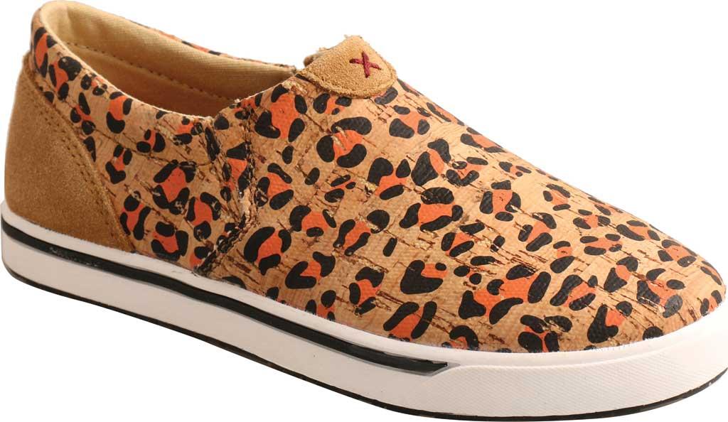 Children's Twisted X YCA0002 Slip-On Kicks Sneaker, Honey/Black/Carrot Eco Cork, large, image 1