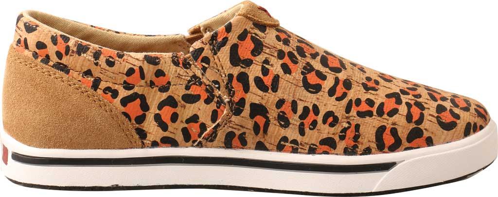 Children's Twisted X YCA0002 Slip-On Kicks Sneaker, Honey/Black/Carrot Eco Cork, large, image 2