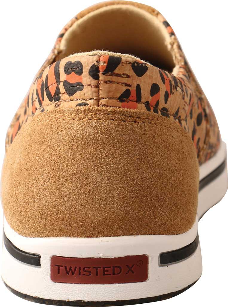 Children's Twisted X YCA0002 Slip-On Kicks Sneaker, Honey/Black/Carrot Eco Cork, large, image 4