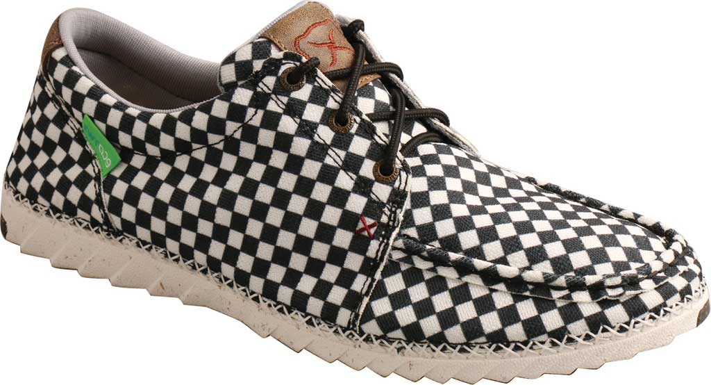 Men's Twisted X MZX0003 Zero-X Moc Toe Sneaker, Black/White Recycled Fabric, large, image 1