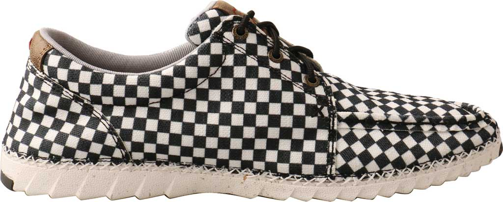 Men's Twisted X MZX0003 Zero-X Moc Toe Sneaker, Black/White Recycled Fabric, large, image 2