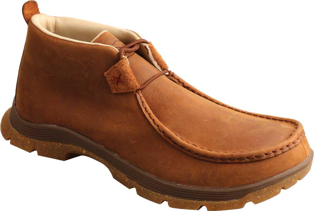 Men's Twisted X MFS0003 Chukka Oblique Toe Work Boot, Oiled Saddle Full Grain Leather, large, image 1