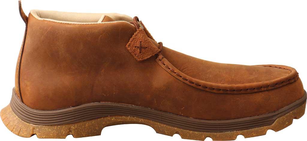 Men's Twisted X MFS0003 Chukka Oblique Toe Work Boot, Oiled Saddle Full Grain Leather, large, image 2