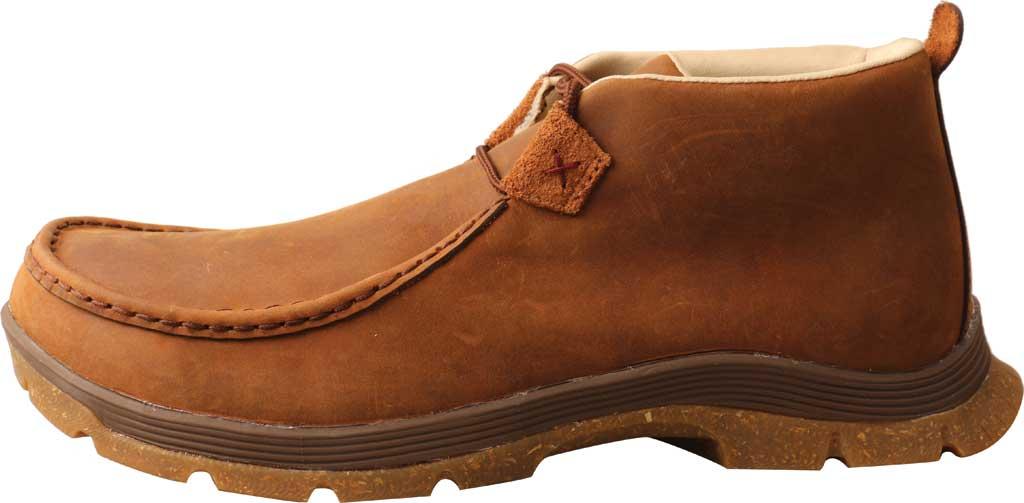 Men's Twisted X MFS0003 Chukka Oblique Toe Work Boot, Oiled Saddle Full Grain Leather, large, image 3