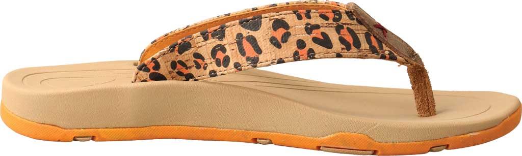 Women's Twisted X WSD0035 Flip Flop, Tan/Orange Leopard Print/Cork, large, image 2
