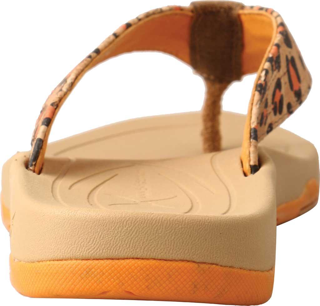 Women's Twisted X WSD0035 Flip Flop, Tan/Orange Leopard Print/Cork, large, image 4