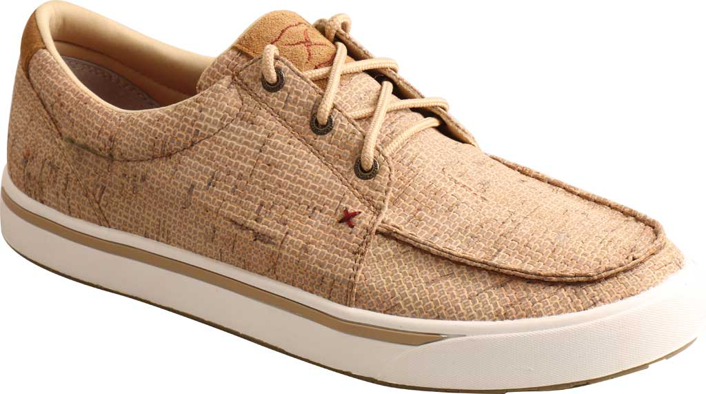 Men's Twisted X MCA0045 Kicks Moc Toe Sneaker, Tan Cork, large, image 1