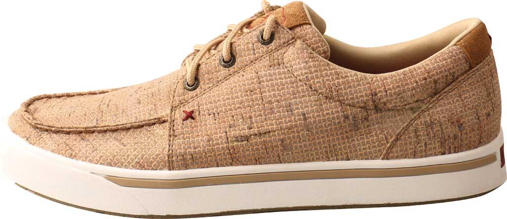 Men's Twisted X MCA0045 Kicks Moc Toe Sneaker, Tan Cork, large, image 3