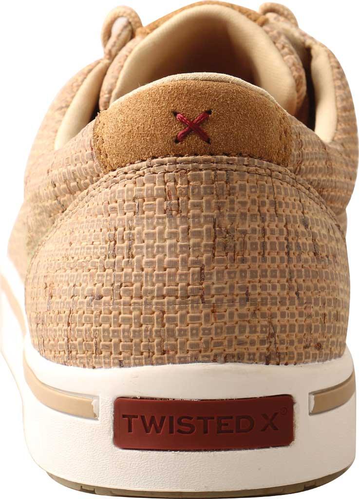 Men's Twisted X MCA0045 Kicks Moc Toe Sneaker, Tan Cork, large, image 4