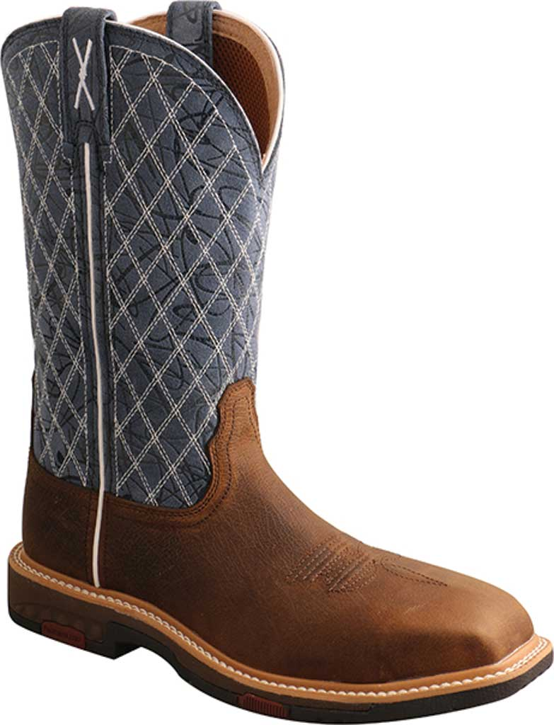 """Women's Twisted X WXBN001 11"""" Western Composite Toe Work Boot, Brown/Blue Full Grain Leather, large, image 1"""