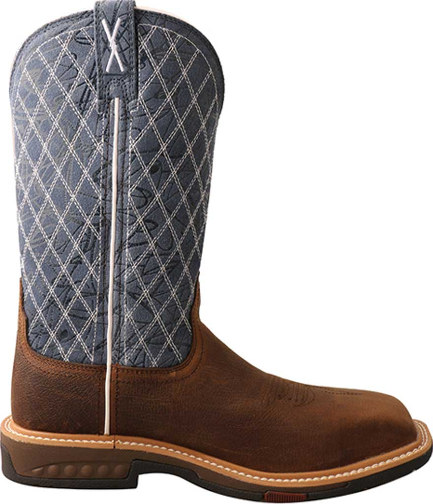 """Women's Twisted X WXBN001 11"""" Western Composite Toe Work Boot, Brown/Blue Full Grain Leather, large, image 2"""