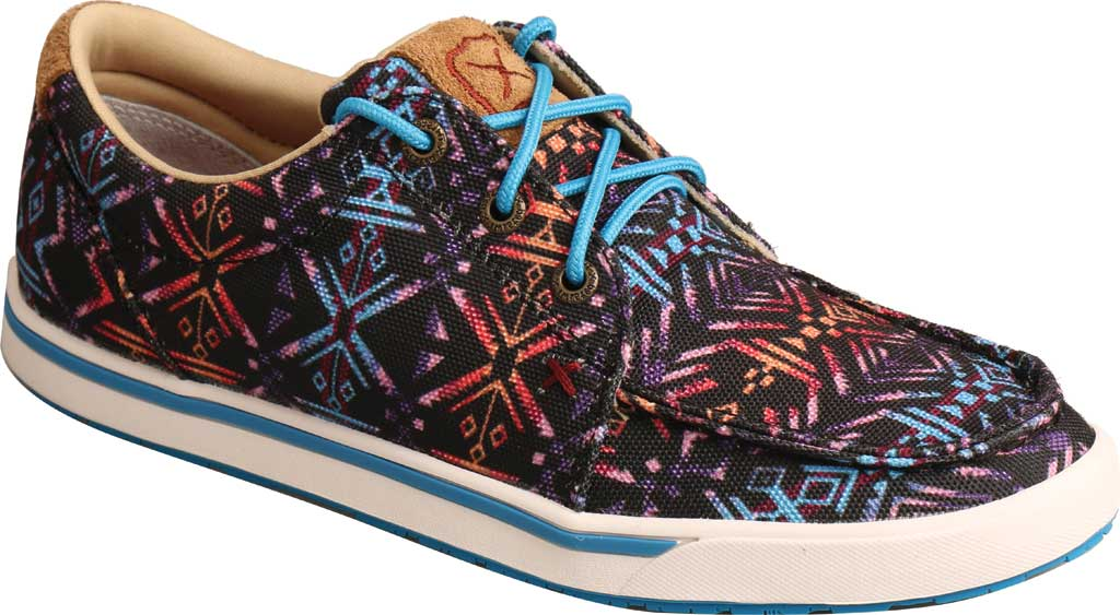 Women's Twisted X WCA0040 Kicks Moc Toe Sneaker, Blue Aztec Textile, large, image 1