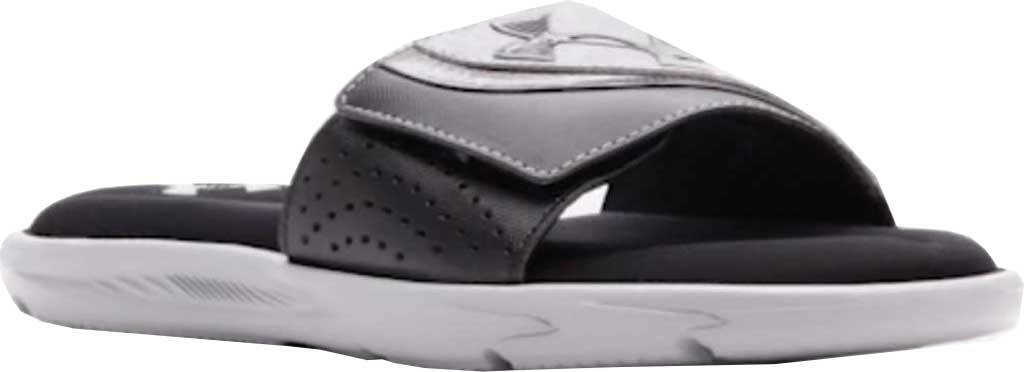 Men's Under Armour Ignite VI Slide, Black/Steel/Black, large, image 1