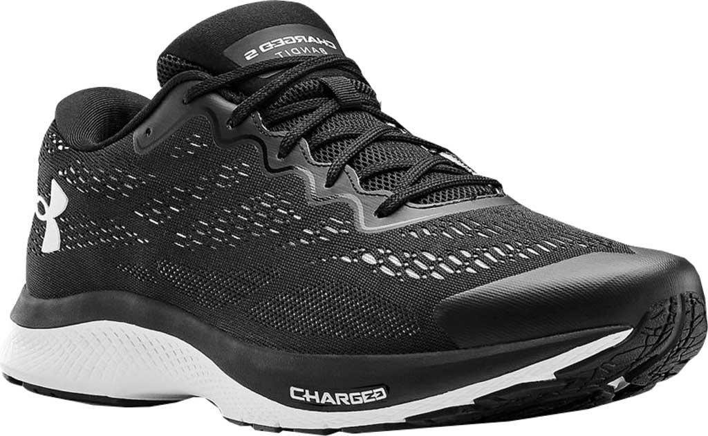 Men's Under Armour Charged Bandit 6 Running Sneaker, Black/White/White, large, image 1