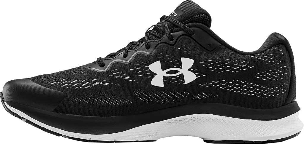 Men's Under Armour Charged Bandit 6 Running Sneaker, Black/White/White, large, image 3