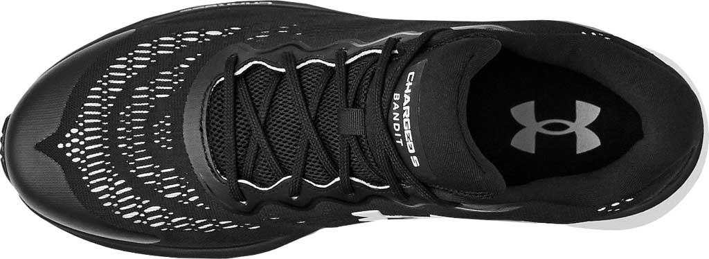 Men's Under Armour Charged Bandit 6 Running Sneaker, Black/White/White, large, image 4