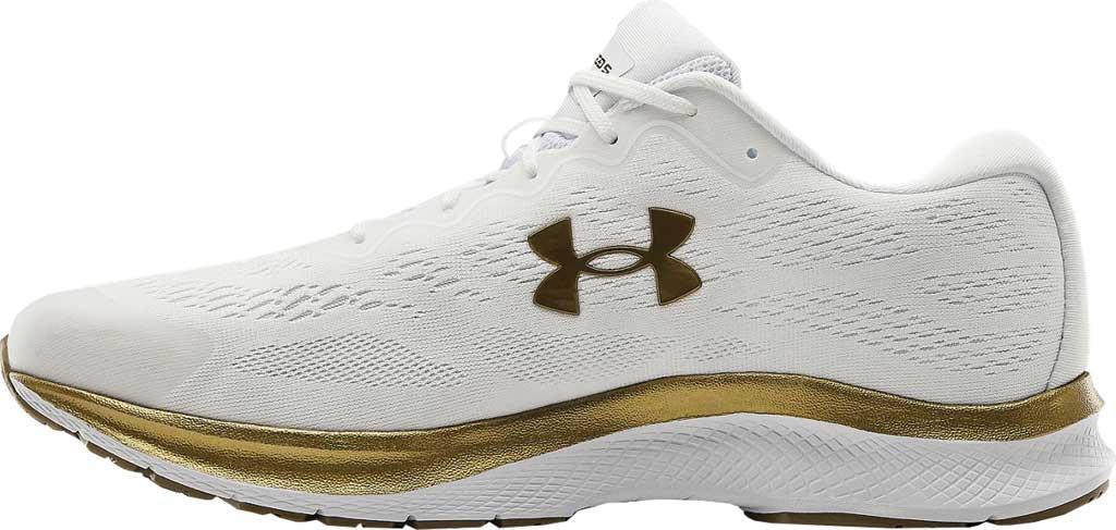 Men's Under Armour Charged Bandit 6 Running Sneaker, White/White/Metallic Gold Luster, large, image 3