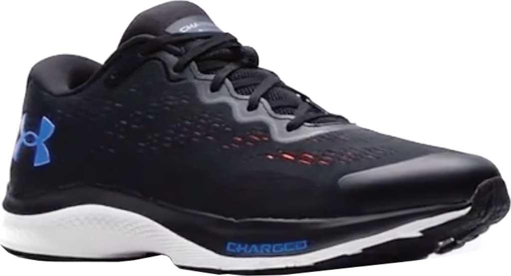 Men's Under Armour Charged Bandit 6 Running Sneaker, Black/White/Blue Circuit, large, image 1