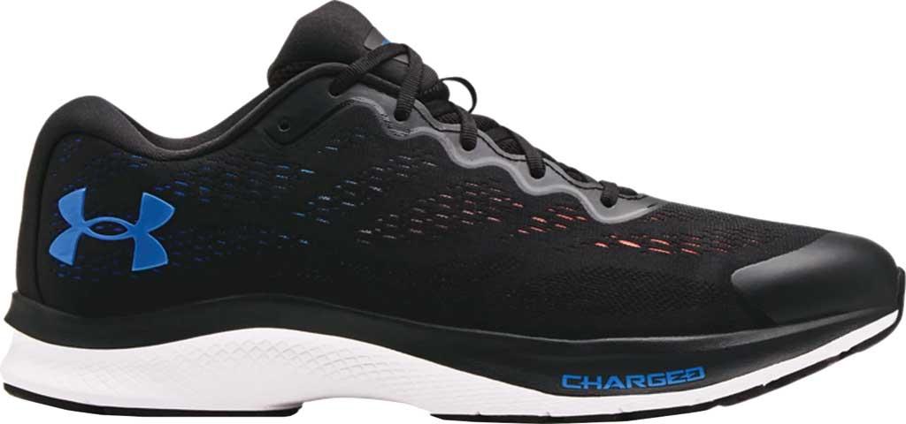 Men's Under Armour Charged Bandit 6 Running Sneaker, Black/White/Blue Circuit, large, image 2