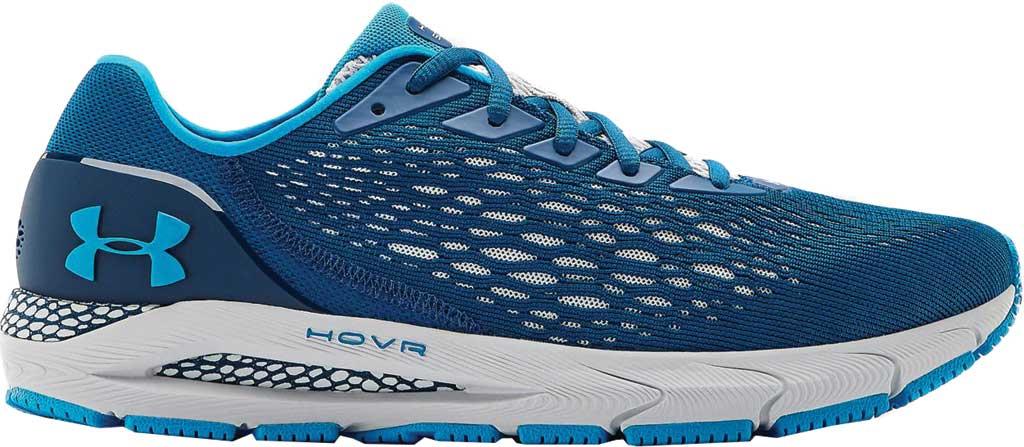 Men's Under Armour HOVR Sonic 3 Running Sneaker, Graphite Blue/White/Graphite Blue, large, image 2