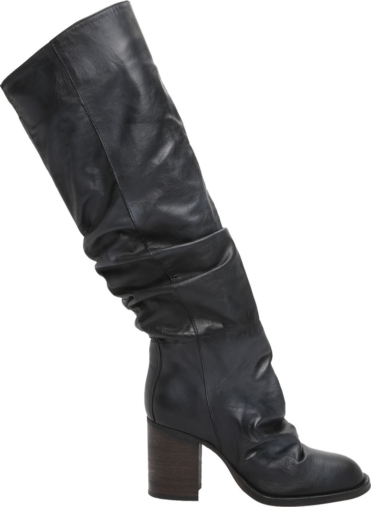 Women's Free People Elle Tall Slouch Boot, Black Burnished Leather, large, image 2