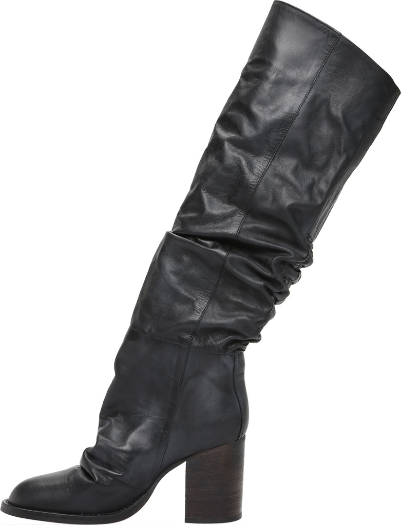 Women's Free People Elle Tall Slouch Boot, Black Burnished Leather, large, image 3