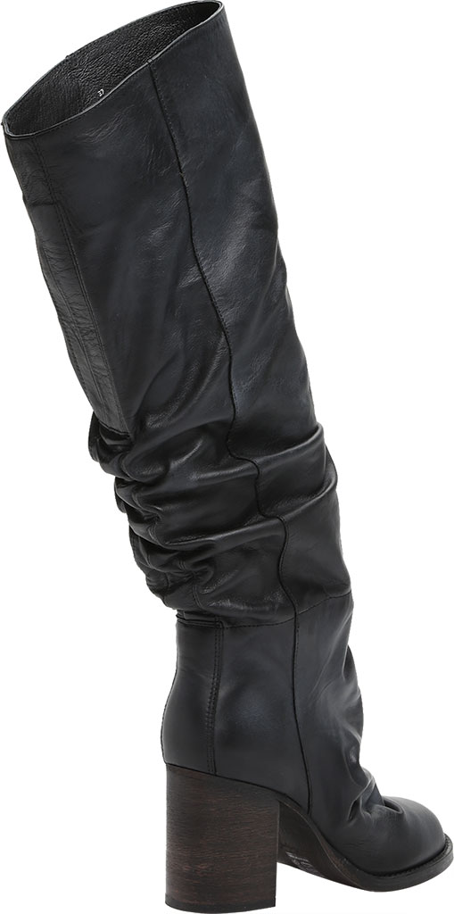 Women's Free People Elle Tall Slouch Boot, Black Burnished Leather, large, image 4